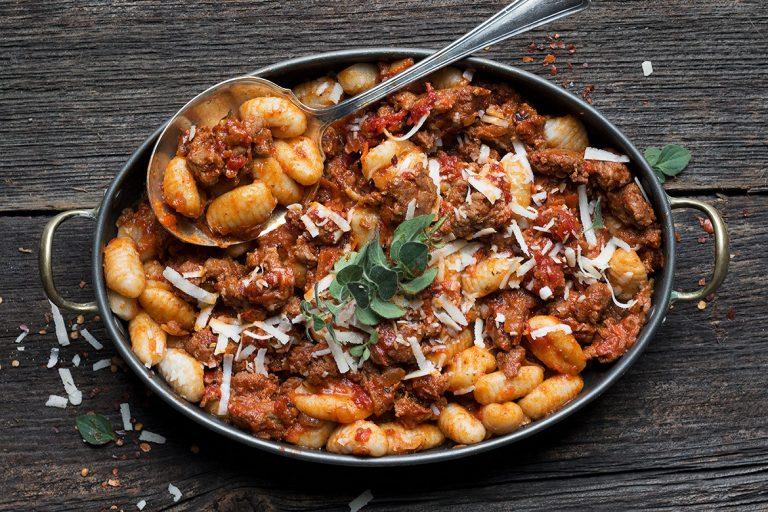Gnocchi with Chorizo Sauce