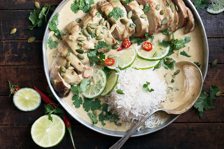 Thai Green Curry Pork Tenderloin