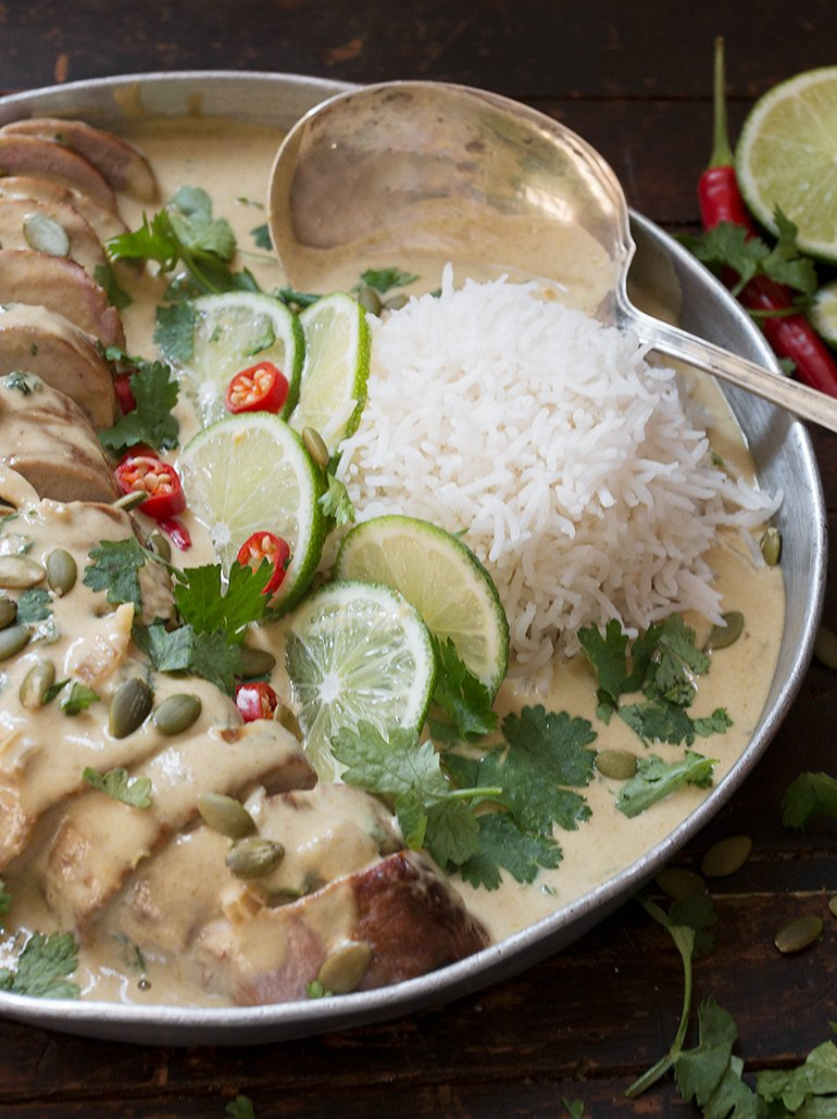 Thai Green Curry Pork Tenderloin
