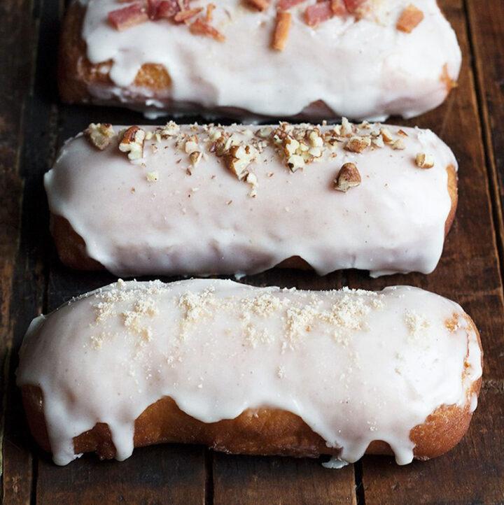 maple bar yeast doughnuts