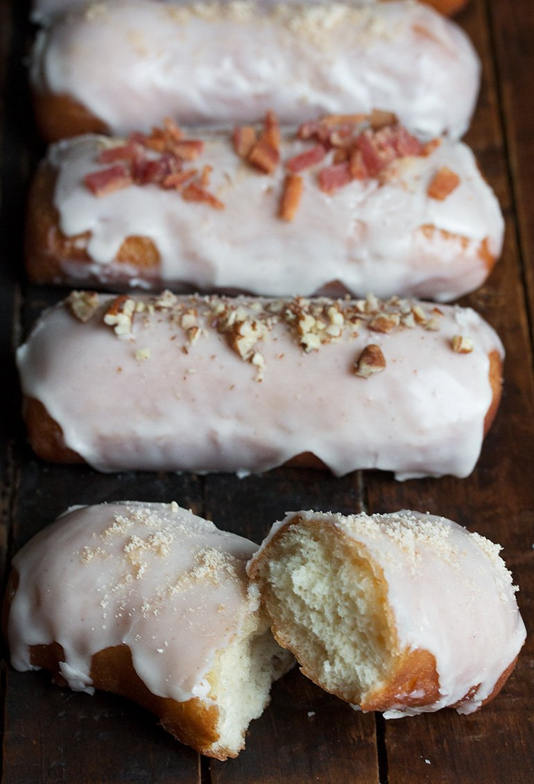 Maple Bar Yeast Doughnuts