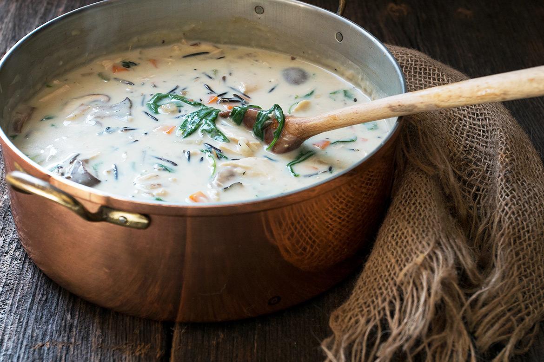 Creamy Turkey and Wild Rice Soup