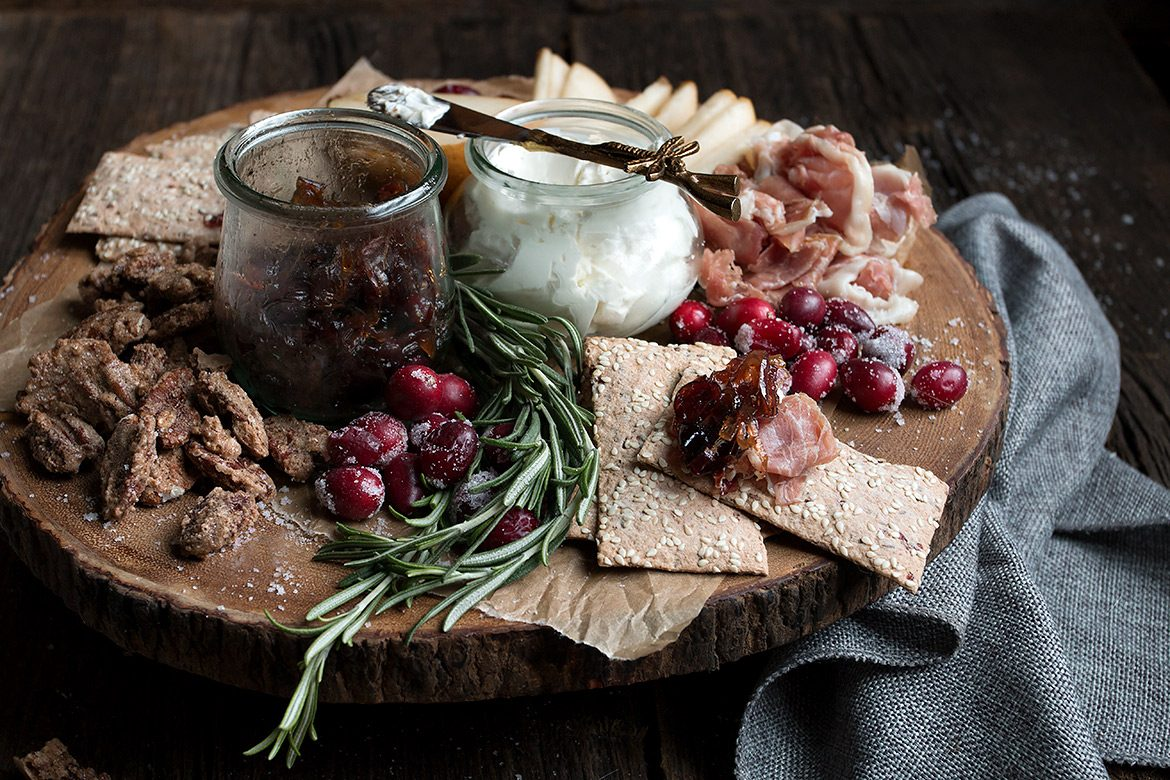 Cranberry Themed Holiday Charcuterie