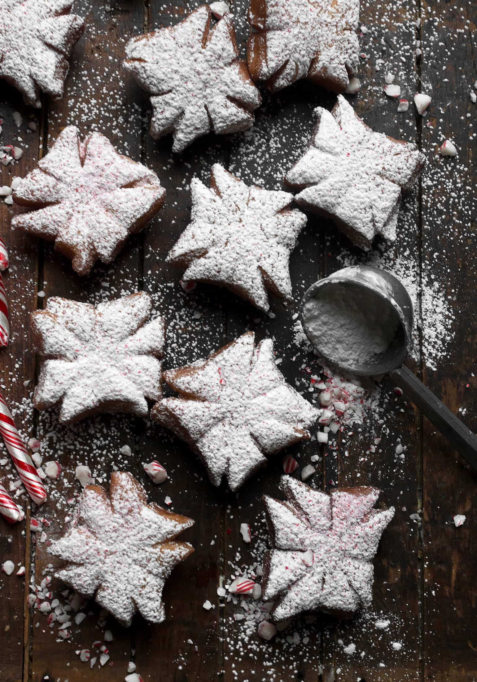Peppermint Snowflake Beignets