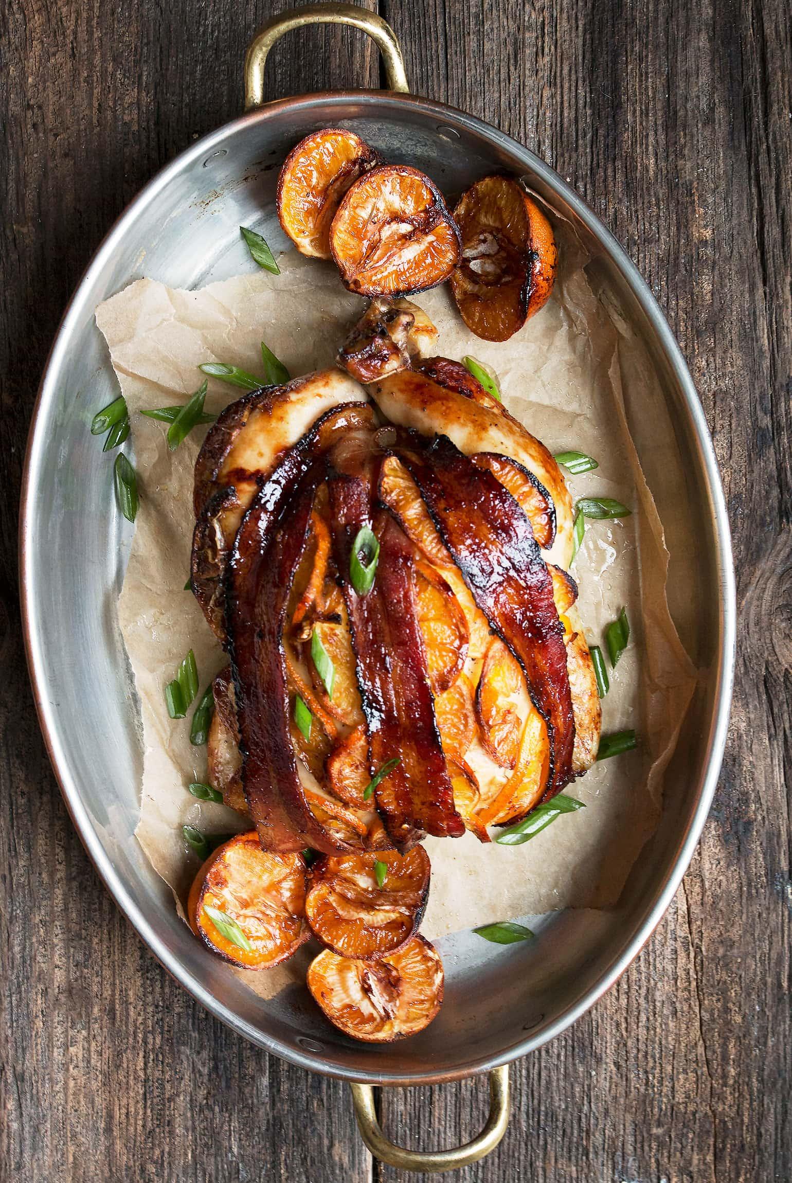 Hoisin Orange Roasted Whole Chicken