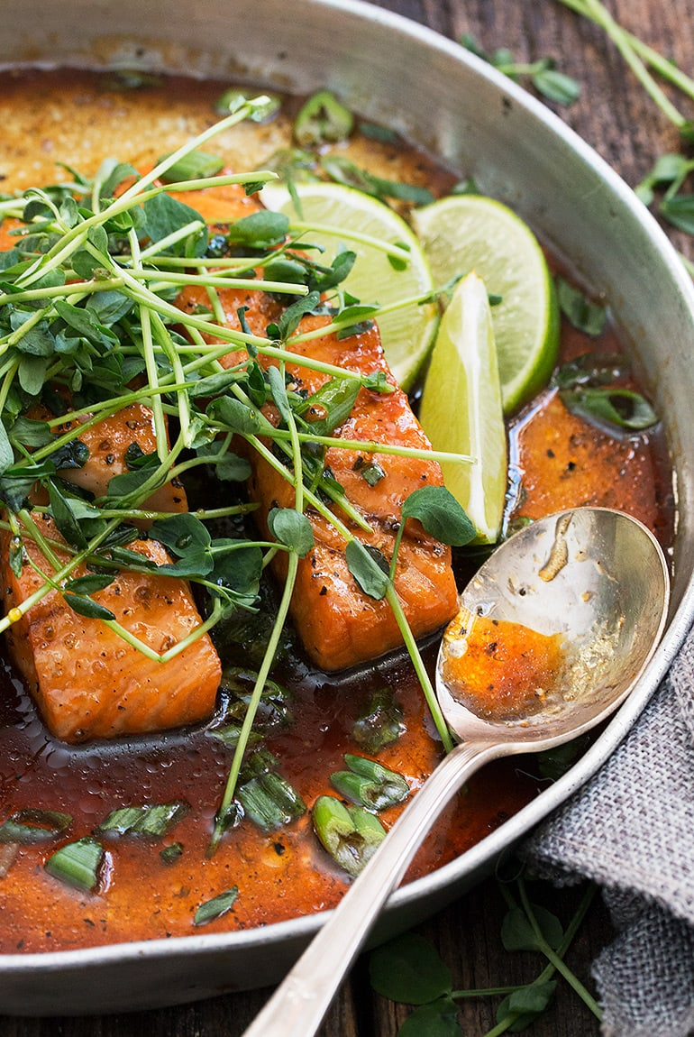 Vietnamese Inspired Instant Pot Salmon