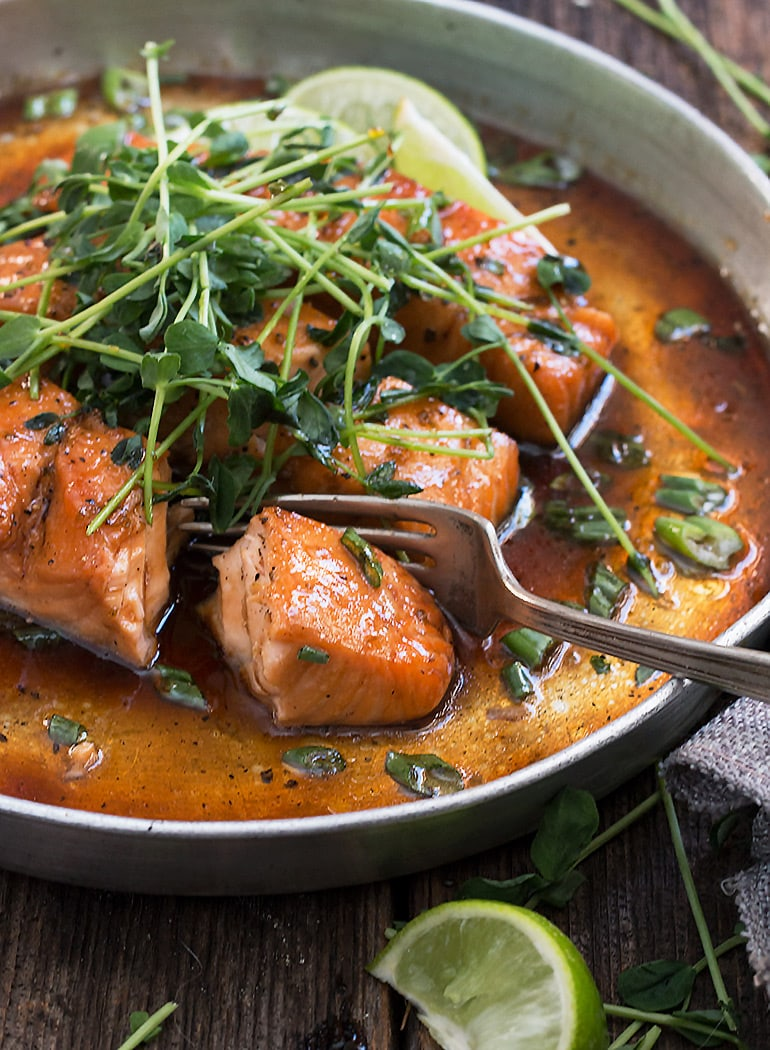 Vietnamese inspired instant pot salmon with oven method for Instant pot fish recipes