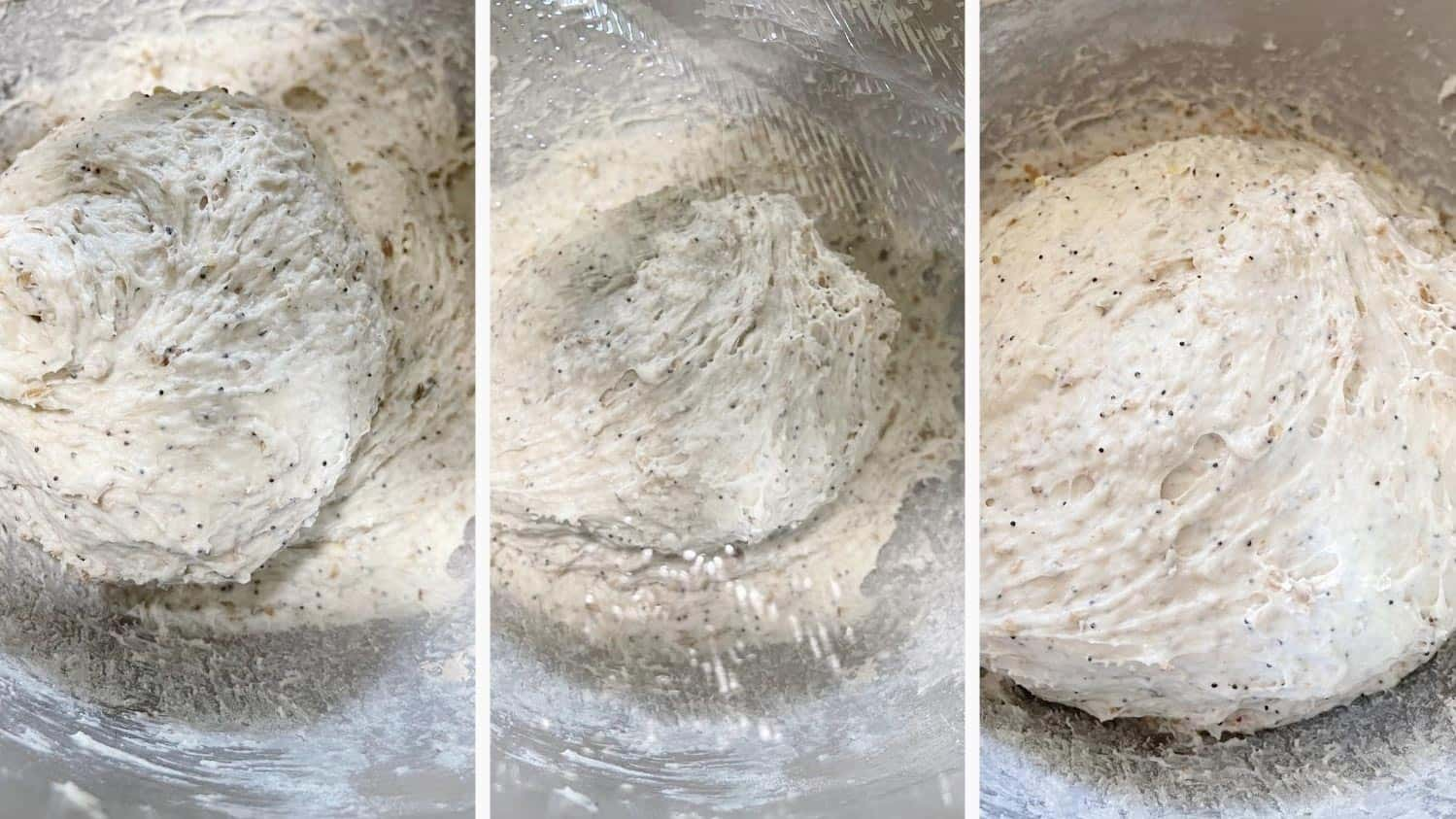 photo collage of steps to make multigrain bread 3