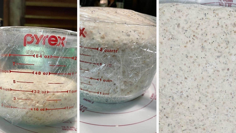 photo collage of steps to make multigrain bread 5