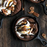 Chocolate Dutch Baby Sundaes