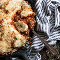 Sausage and Farro Parmigiano