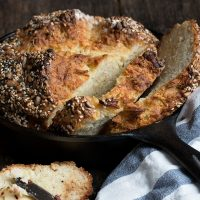 Seeded Asiago Rosemary Soda Bread with Chili Butter
