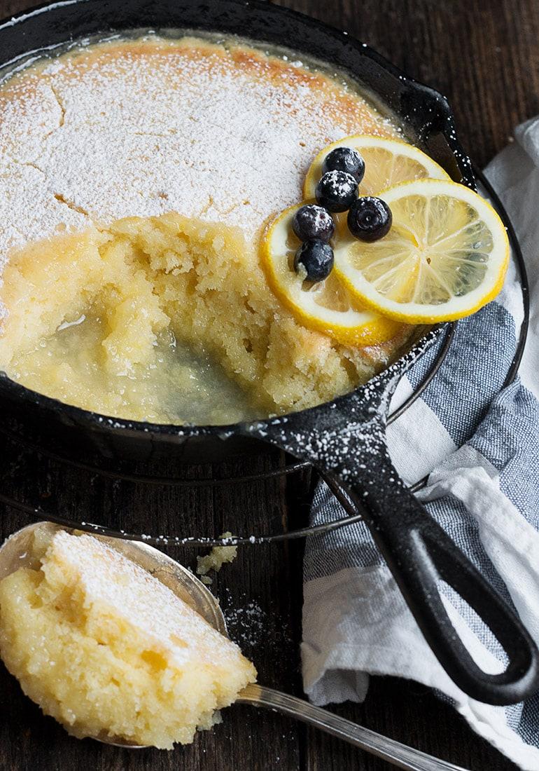 Lemon Cake and Sauce