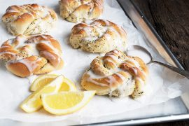 Glazed Lemon Poppy Seed Knots