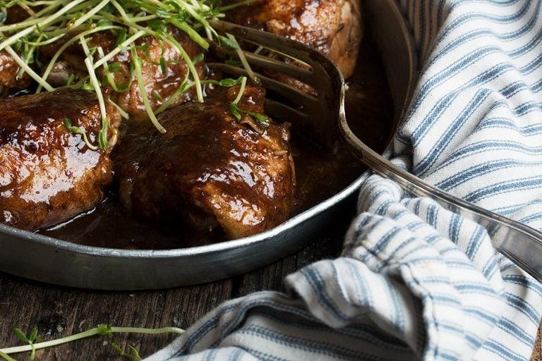 Balsamic Glazed Chicken Thighs