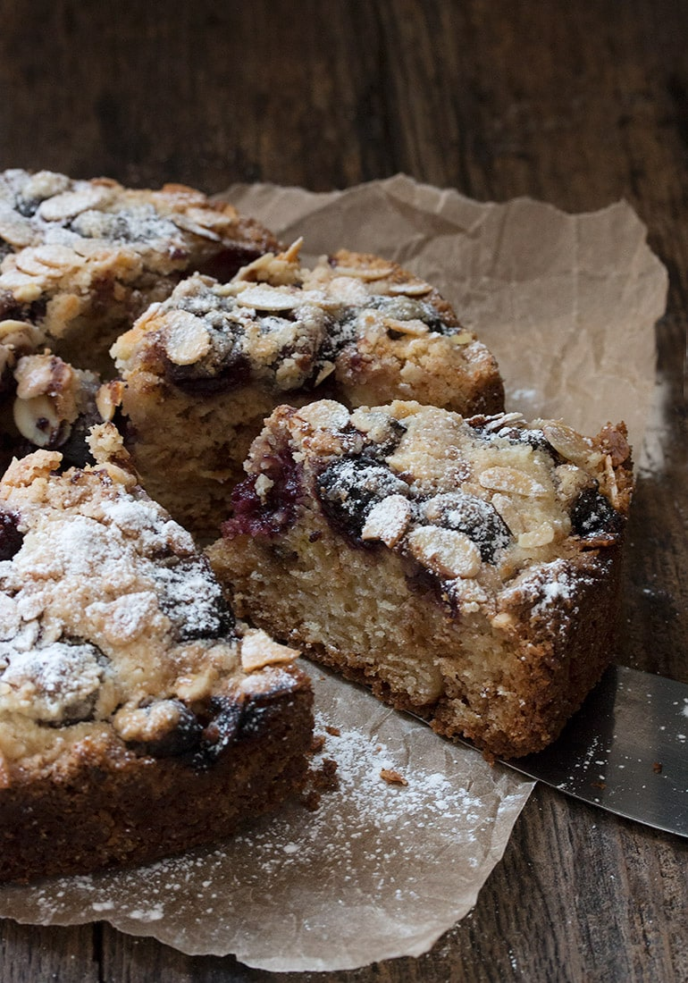 Easy Cherry Almond Coffee Cake Recipe