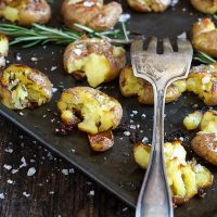 Rosemary Olive Oil Smashed Potatoes