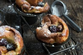 Sugar Coated Blackberry Vanilla Popovers