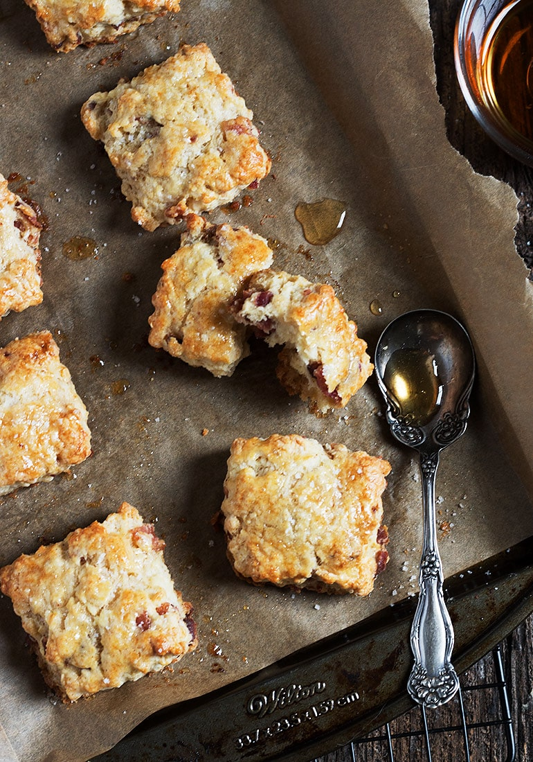Maple Syrup and Bacon Biscuits