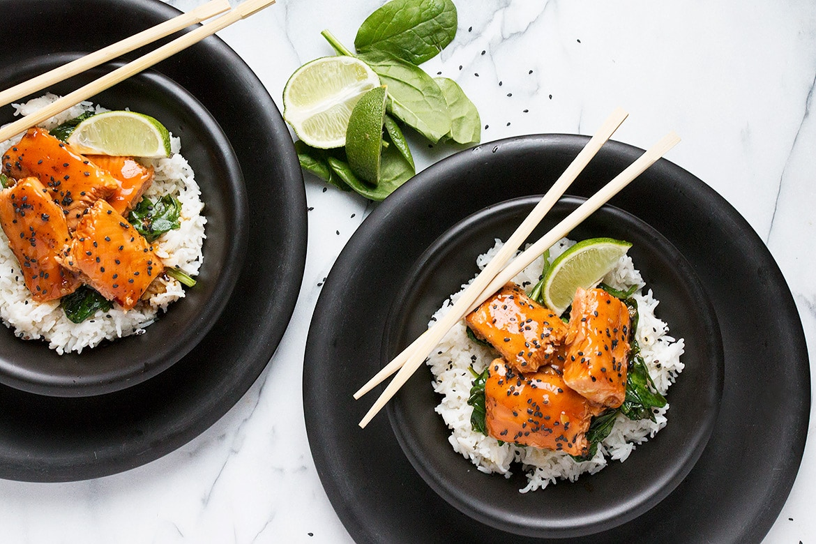 Maple Soy Salmon Bowls