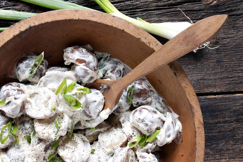 Sour Cream and Green Onion Red Potato Salad