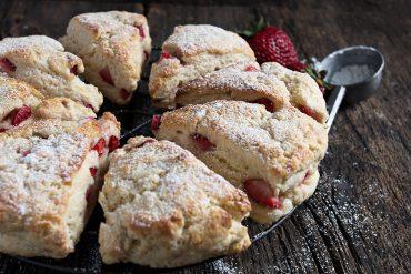 Strawberry Cream Scones