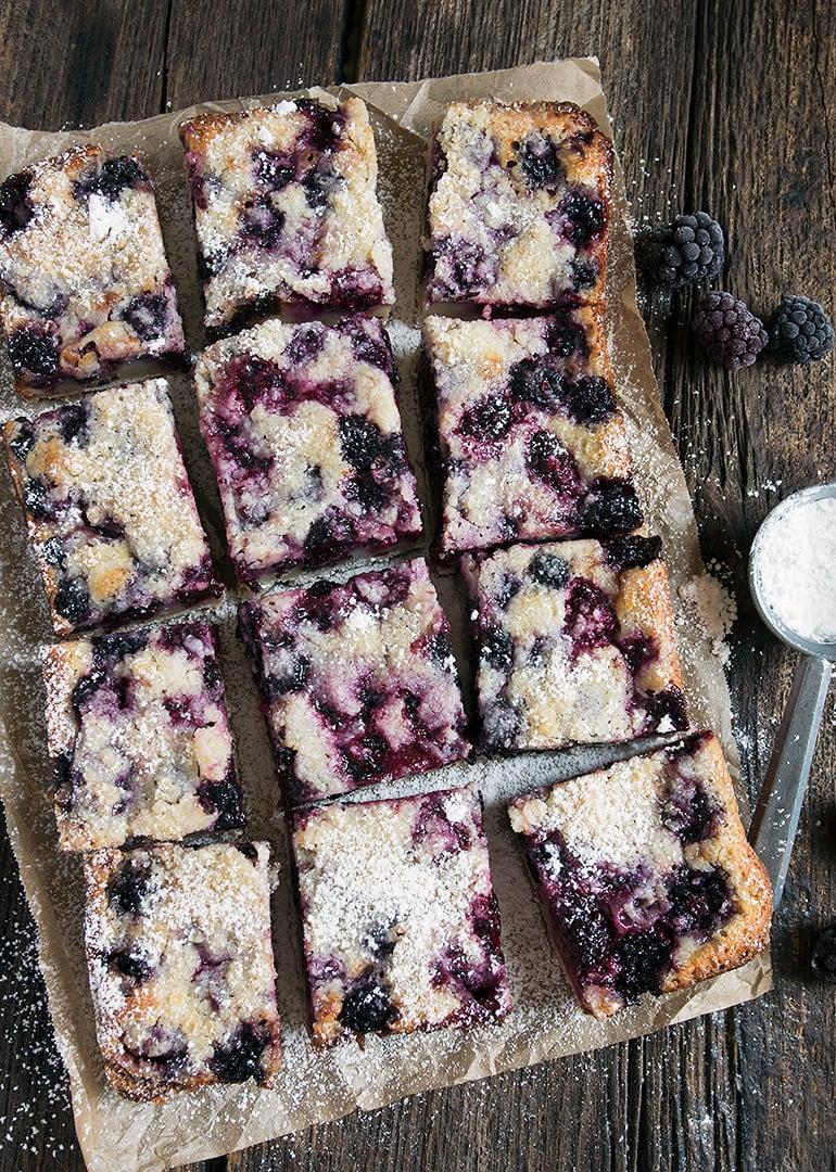 Blackberry Pie Squares