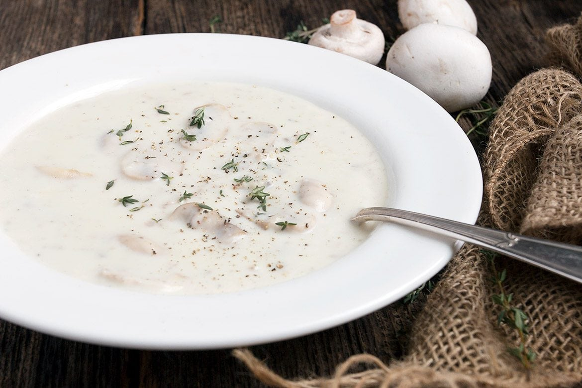Creamy Mushroom Soup without the Cream