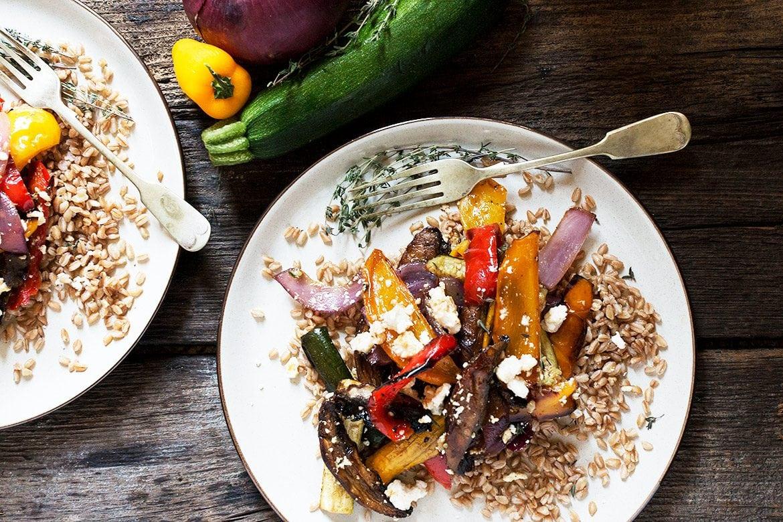 Roasted Vegetable and Farro Salad