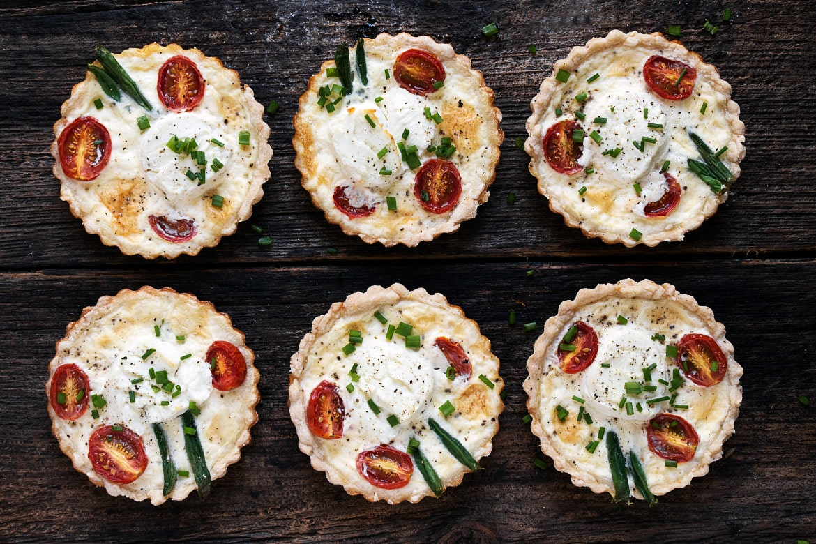 Goat Cheese and Tomato Tarts