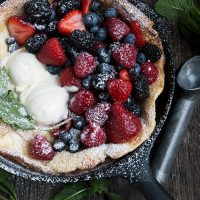 Summer Fruit Dutch Baby