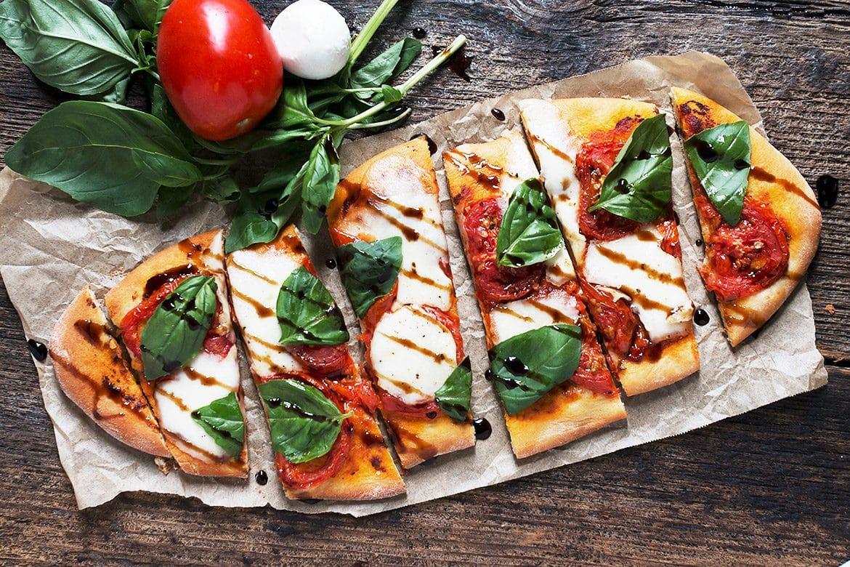 Tomato Bocconcini Flatbread