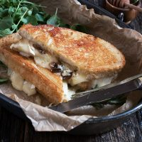 Knife and Fork Camembert and Gruyere Grilled Cheese