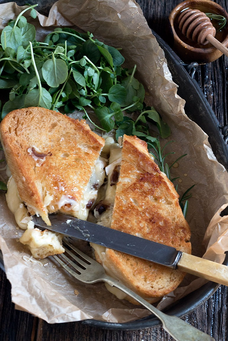 Camembert and Gruyere Grilled Cheese
