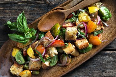 Heirloom Cherry Tomato Salad with Garlic Confit Toast