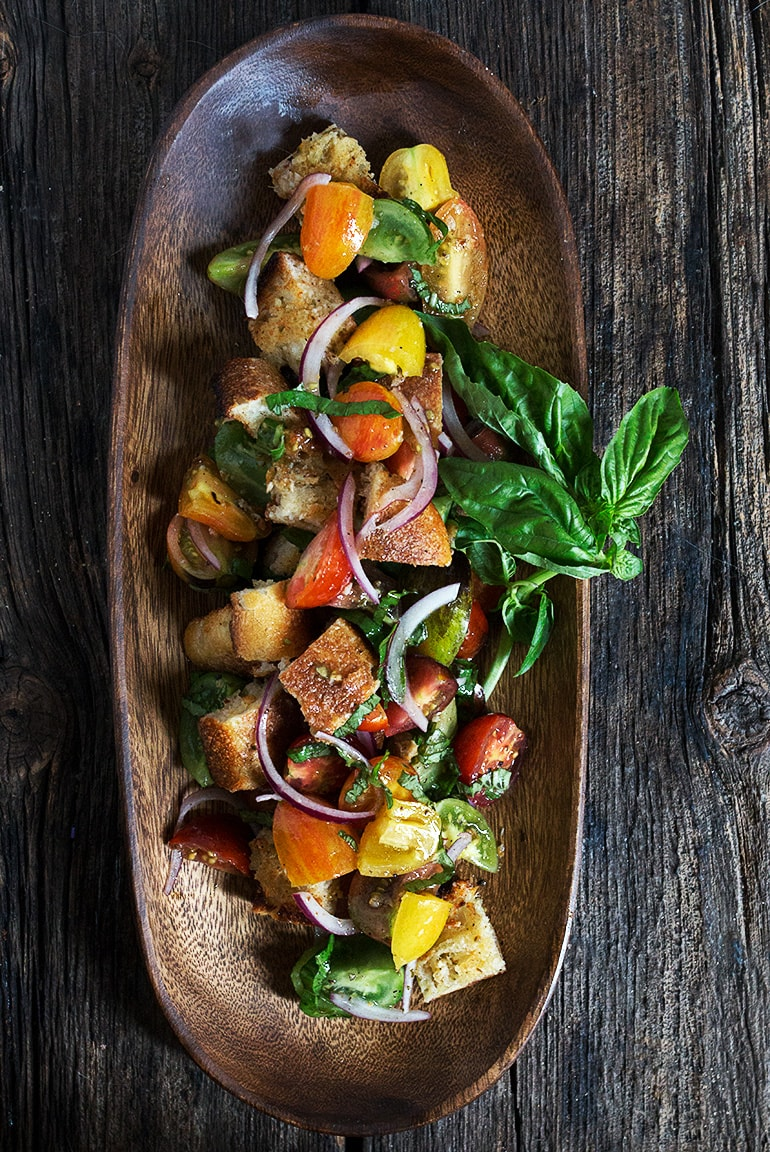 Heirloom Cherry Tomato Salad with Garlic Confit Toast