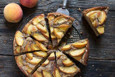Peach Crisp Buttermilk Cake