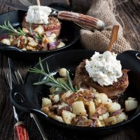Bacon Wrapped Pork Medallions with Feta Paté