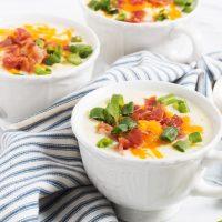 Loaded Cauliflower Soup