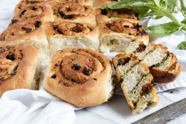 Pesto and Sundried Tomato Pull Apart Rolls