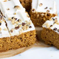 pumpkin cake sliced