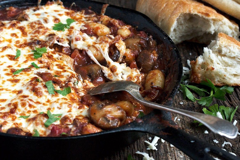 Easy Cheesy Stovetop Mushroom Gnocchi