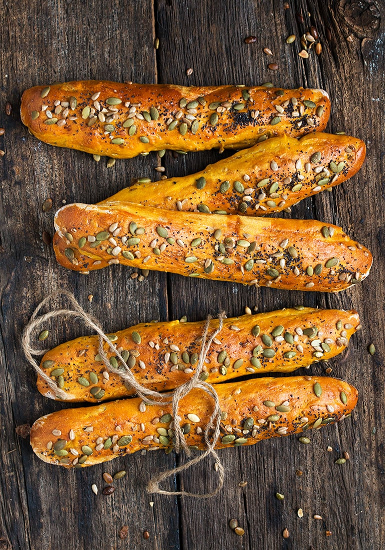 Seeded Pumpkin Bread Sticks