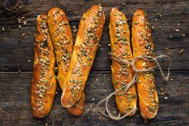 Seeded Pumpkin Bread Sticks