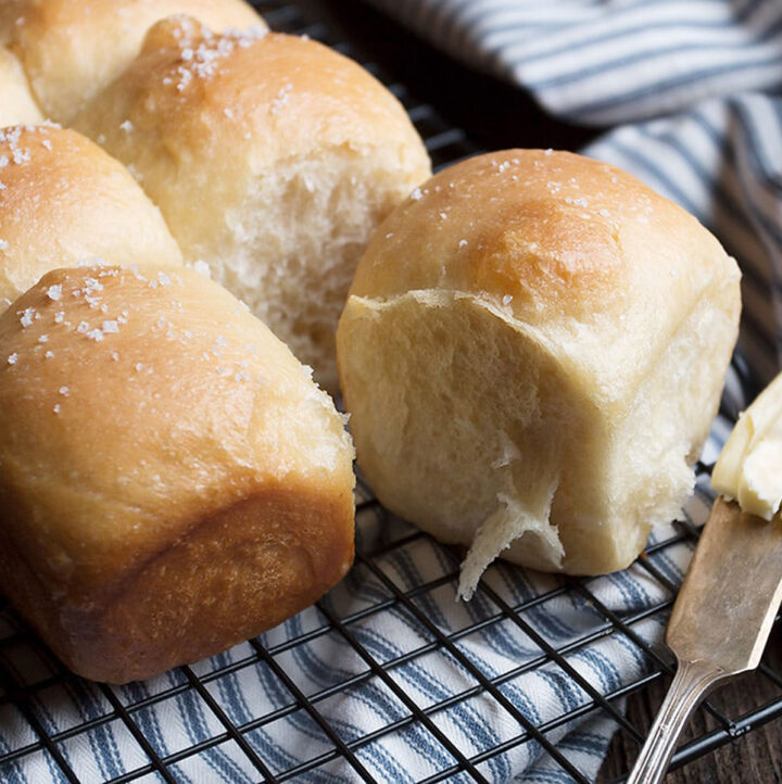 Colicchio's dinner rolls on cooling rack