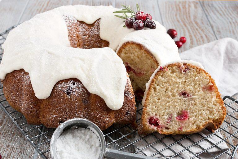 Snow Capped Cranberry Bundt Cake