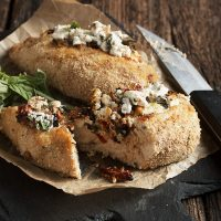 Italian Style Goat Cheese Stuffed Chicken Breasts