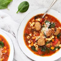 Easy Italian Meatball Soup