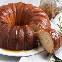 Ginger Spice Bundt Cake with Brown Sugar Sauce