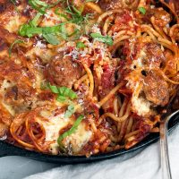 Spaghetti and Meatball Pasta Bake